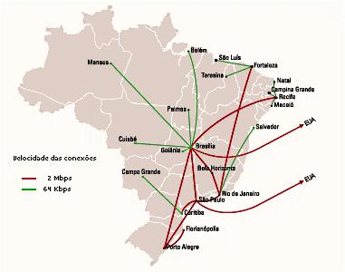 Backbone da RNP em Santa Catarina no ano 1995 (Arquivo Histórico)
